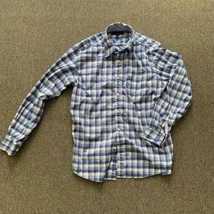 Blue Checkered Tommy Hilfiger Dress Shirt
